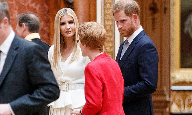 Принц Гарри пообщался с Иванкой Трамп (и держался подальше от ее отца после скандала с Меган Маркл)