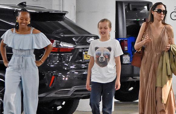 Анджелина Джоли на шопинге с детьми: новые фото