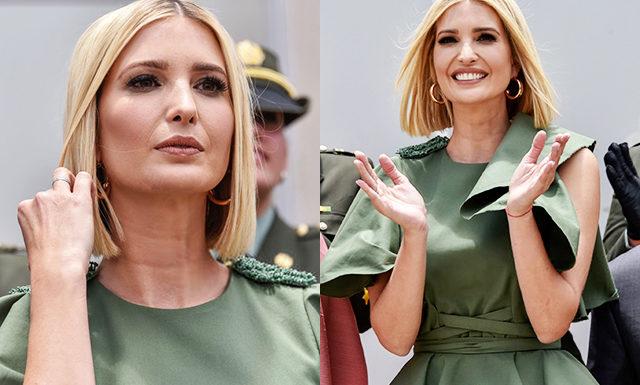 Новая прическа и платья с воланами: Иванка Трамп на мероприятиях в Колумбии