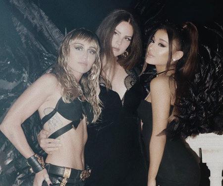 Майли Сайрус, Ариана Гранде и Лана Дель Рей представили клип на саундтрек к фильму «Ангелы Чарли»
