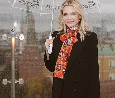 Мишель Пфайффер на премьере фильма «Малефисента: Владычица тьмы» в Москве