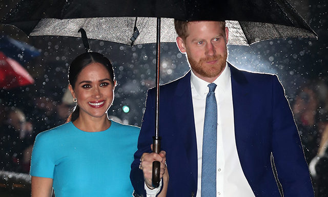 Меган Маркл и принц Гарри впервые появились вместе в Лондоне после отказа от королевских обязанностей