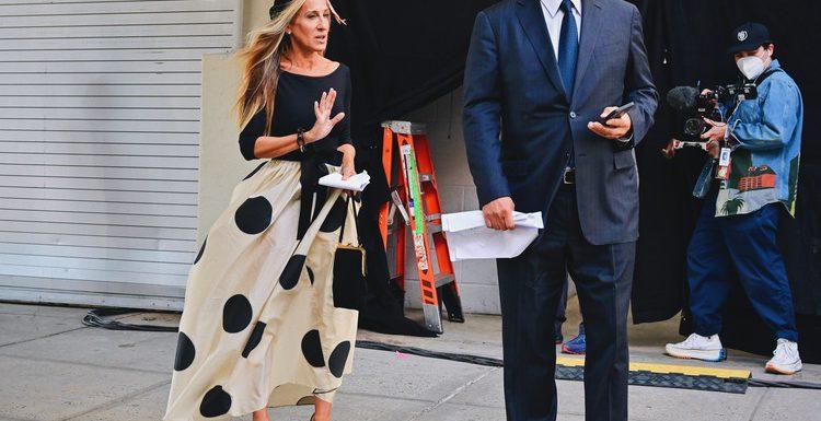 """Мужчина ее мечты: Сара Джессика Паркер и Крис Нот на съемках продолжения """"Секса в большом городе"""" в Нью-Йорке"""